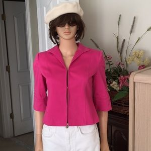 Kate Hill...hot pink cotton jacket